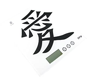 """TFY Digital Tempered Glass Kitchen Scale-Chinese Character """"Love"""""""