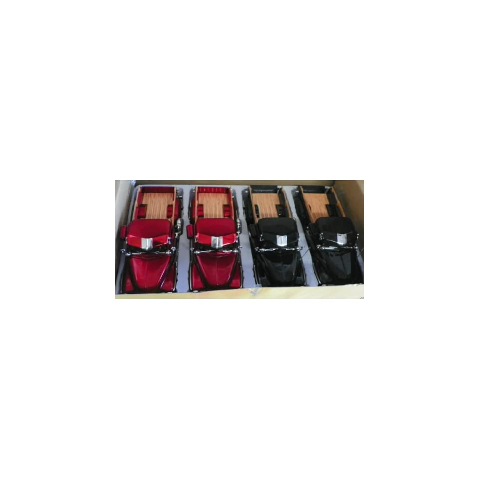 Jada Toys 1/24 Scale Diecast Big Time Kustoms 1951 Chevy Pickup Streetlow Box of 4 Cars You Get Two Black and Two Red
