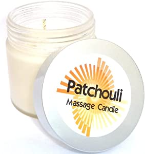 Patchouli Massage Candle - 250ml in frosted glass jar from Scents-ible Solutions