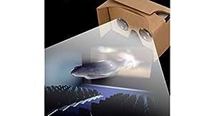 "DIY Google Cardboard Virtual Reality VR 3D Glasses - L099, 3.7-6"", Black (Magnet+Band+Game Control)"
