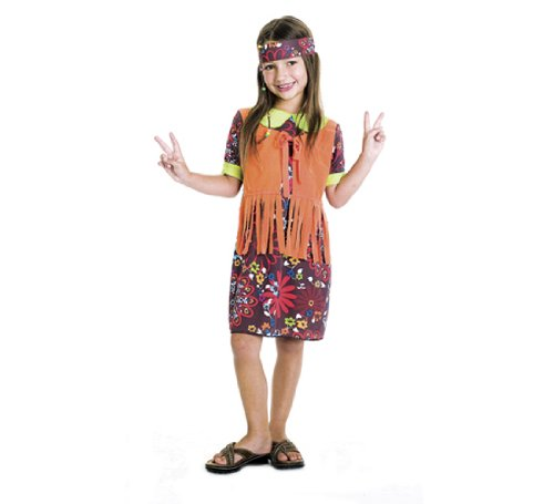 Flower Power 60S Costume, Medium (7/8)