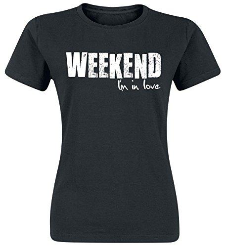 Weekend I'm In Love Maglia donna nero XL