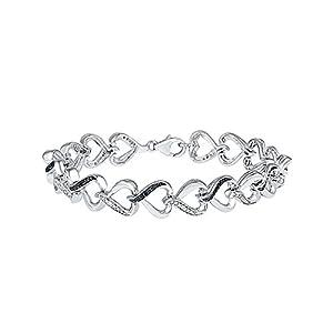 1/10 ct. tw. Black & White Diamond Fashion 7 1/4