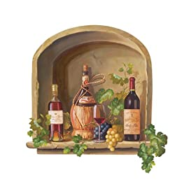 Wallies Wine Alcove Wallpaper Mural: Home Improvement