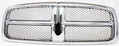 Evan-Fischer EVA17772021825 Grille Assembly Grill Plastic shell and insert Chrome with gray (2004 Dodge Ram 1500 Grill compare prices)