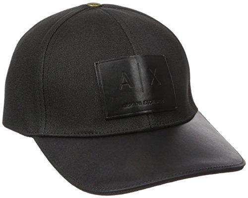 Armani Exchange Men's Logo Patch Hat, Black, One Size (Armani Cap compare prices)