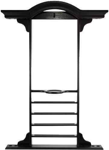 Ozone Deluxe Pool Cue Wall Rack - Black new cuppa pool jump cue 13 5mm black bakelite tips punch
