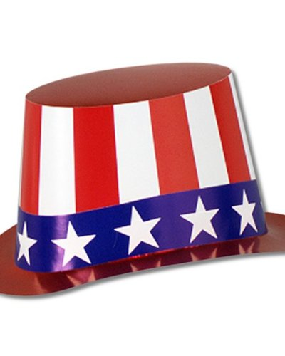 Beistle 66617-25B Costumes for All Occasions Uncle Sam Hat Cardboard 1Size