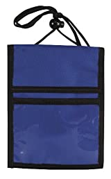 Travel Neck Passport Wallet Badge Holder, Royal Blue by BAGS FOR LESSTM