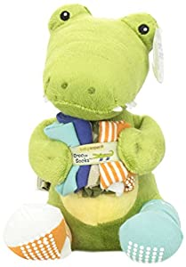 Baby Aspen Toy and Baby Socks Gift Set, Croc in Socks Plush, Green