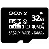 Sony 32GB Micro SD SDHC Class 10 UHS-1 High Speed memory card. Read Upto 40MB/S, Free Adapter