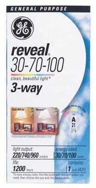 GE Reveal 100 Watt 3-Way Light Bulb (Reveal Lightbulbs 100 Watt compare prices)