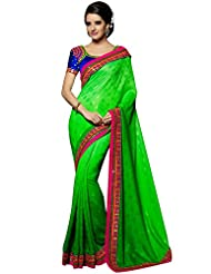 CSE Bazaar Women Beautiful Fancy Indian Wedding Bridal Party Wear Saree Sari