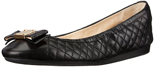 cole-haan-womens-tali-bow-ballet-flat-black-quilted-leather-7-b-us