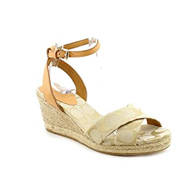 coach s henley 12cm signature wedge