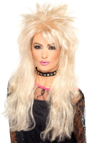Smiffy'S 80S Long Mullet Wig, Blonde, One Size