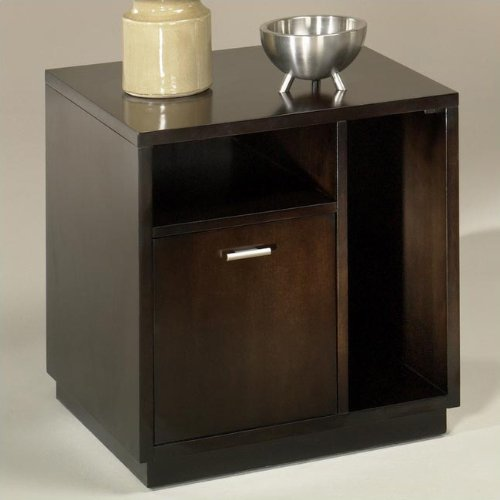 Cheap Hammary T2007010-00 Grammercy Square End Table in Dark Cherry (T2007010-00)