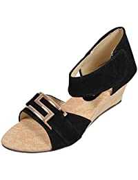 Belly Ballot Women's Velvet Wedges