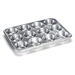 Nordic Ware 12 Cup Standard Size Muffin Pan, Silver