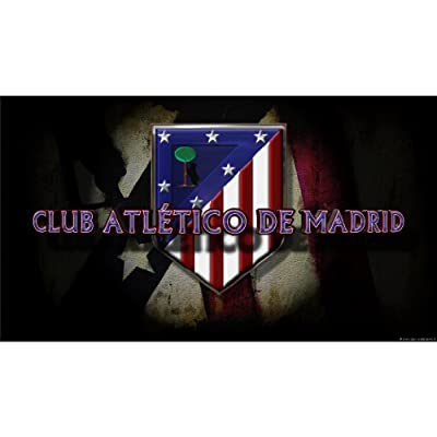 Atletico de Madrid Poster by Silk Printing # Size about (107cm x 60cm, 43inch x 24inch) # Unique Gift # 5A4BAC