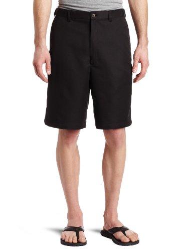 Haggar Men's Cool 18 Gabardine Hidden Expandable Waist Plain Front Short,Black,34 (Haggar Cool 18 compare prices)