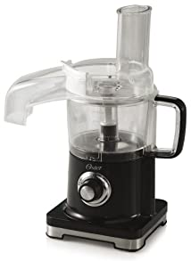 Oster FPSTFP4010-000 4-Cup Food Processor with Continuous Food Chute Black