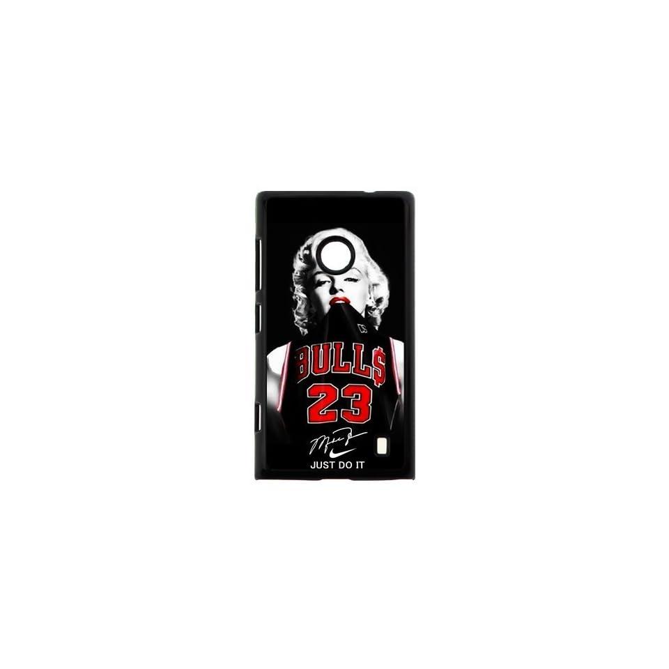 Fashion Funny NBA Chicago Bulls Michael Jordan Nokia Lumia 520 Case Cover Marilyn Monroe NIKE JUST DO IT