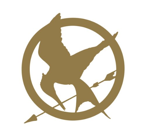 Mockingjay The Hunger Games Vinyl Decal Sticker GOLD