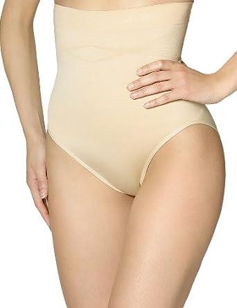 Sans Complexe - Slimmer - Culotte Gainante - Amincissant - Uni - Maille Bloquée - Femme - Beige (Skin) - 38/40