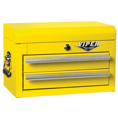 Viper Tool Storage V218Mcyw 18-Inch 2-Drawer 18G Steel Mini Tool Chest, Yellow back-82347
