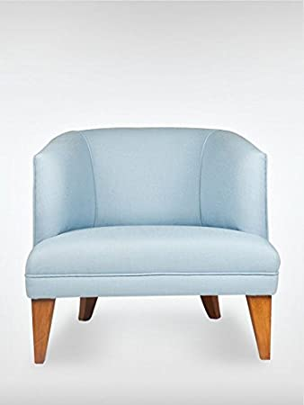 Modern Retro Design Sessel Ohrensessel MADISON 73 x 77 x 72 cm Loungesessel in blau