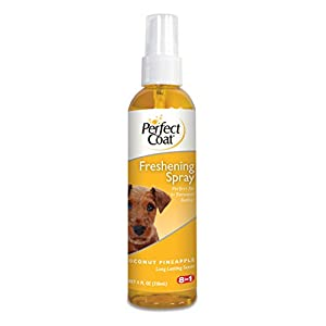 8 In 1 Pet Products DEOI6684 Pro Pet Salon Freshening Scent Dog Spray, 4-Ounce, Coconut/Pineapple