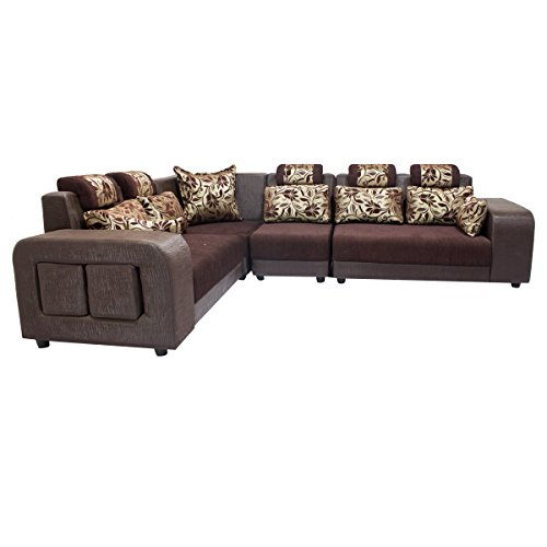 Buy woodpecker saffron six seater sectional sofa marble for Sectional sofa 6 seater