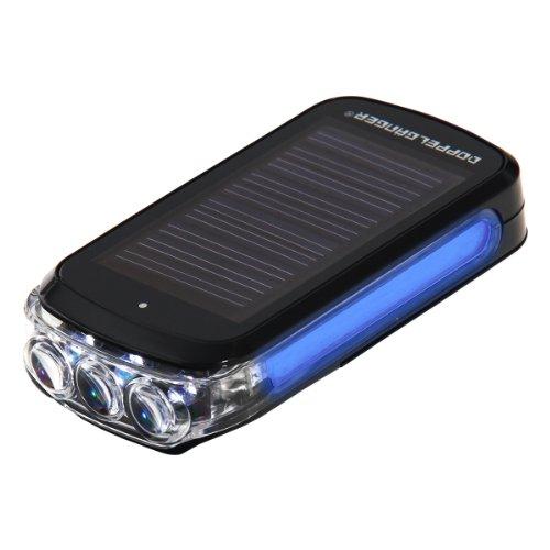 DOPPELGANGER(ドッペルギャンガー) インテリジェントハイブリッドソーラーLEDライト DL-09 ニッケル水素電池内蔵 単4乾電池併用可 サイドブルーLED [連続点滅80時間]