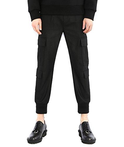 wiberlux-neil-barrett-mens-woolen-cargo-pocket-jogger-pants-48-black