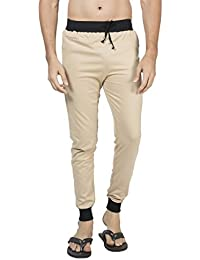 Clifton Men's Ribbed Slim Fit Track Pant - Beige