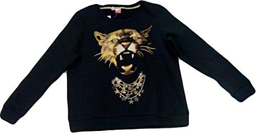 PUMA Women's Puma Graphic Sweat Black T-Shirt XL