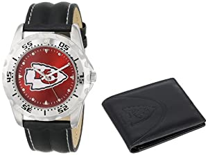 Game Time Unisex NFL-WWS-KC Wallet and Kansas City Chiefs NHL Watch Set by Game Time