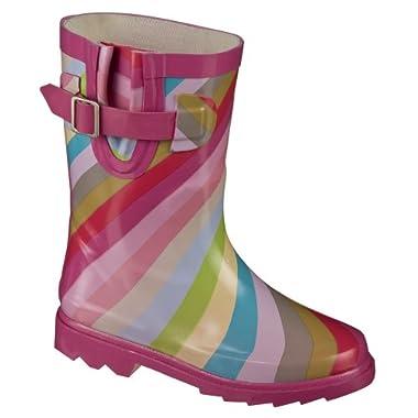 Youth Cherokee® Unai Rainbow Stripe Rain Boots - Multicolor