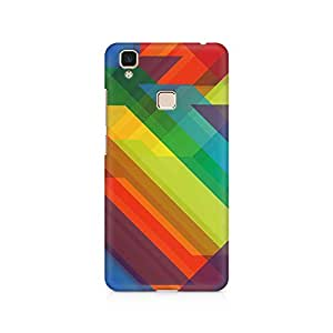 Ebby Colored Abstract Triangles Premium Printed Case For Vivo V3 Max