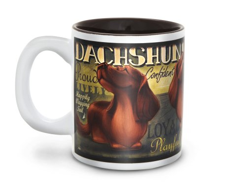 "Pavilion Gift Company 46032 Pedigree Pals ""Dachshund"" Mug, 12-Ounce"