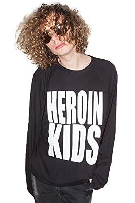 Heroin Kids Black Logo Dope & Grunge Chic Sweatshirt