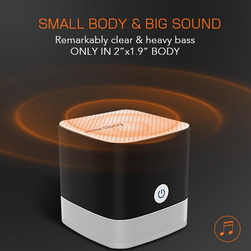 Portable Bluetooth Speaker - Mini Bluetooth Speaker, Small Bluetooth Speaker with Big Sound and Heavy Bass, Compact Pocket Size Micro Bluetooth Speaker 50ft Wireless Range Up to 12 Hour Play Time