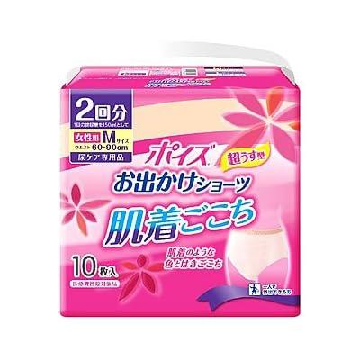 ポイズお出かけショーツ 肌着ごこち 女性用 吸収量300cc M10枚 【尿モレが少し気になる方】