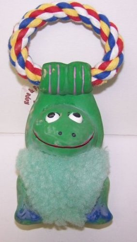 Classic Pet Products 7 in Frog Rope Latex and Fleece Dog Toy