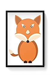 PosterGuy Cute Fox Animal Character cute, fox, animal, character, fox art , watercolor fox painting, fox, fox illustration, watercolor animals, Laminated Framed Poster