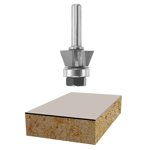 Bosch 85420M Laminate Flush Trim Router Bit huhao 1pcs 1 2 1 2 3 flush trim router bits for wood lengthened trimming cutters with bearing woodworking tool endmill