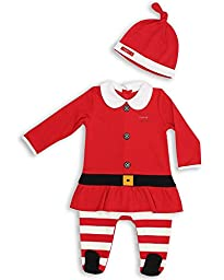 The Essential One Baby Girls\' Mrs Santa Suit Coverall up to 7lbs Red