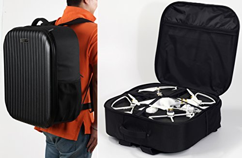 Koozam NEW DJI Phantom 3 Extra Light Carbon Fiber Backpack designed to fit the Phantom 3 Professional, Advanced, and Standard Edition Drone's With Prop Guards on Fits other DJI Models