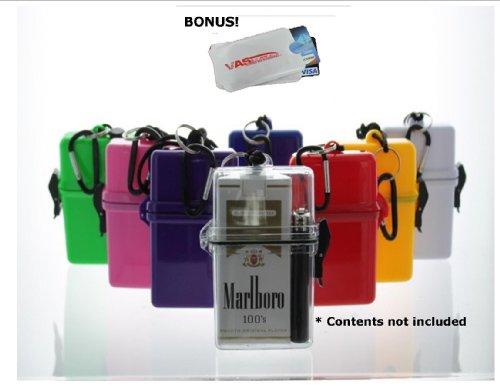 Waterproof Cigarette Case, With Bic Lighter - Blue & Bonus Rfid Protection!